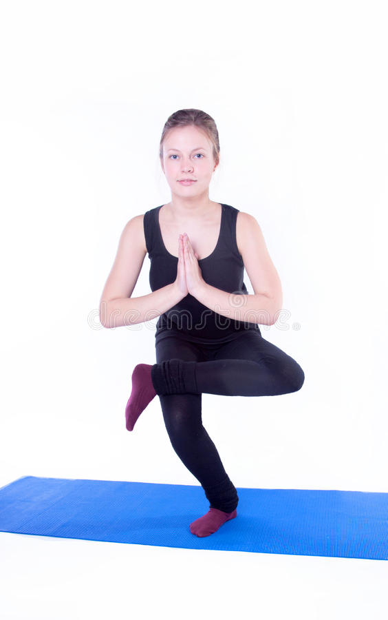 Download Yoga exercise stock image. Image of body, mental, mediation - 24408005