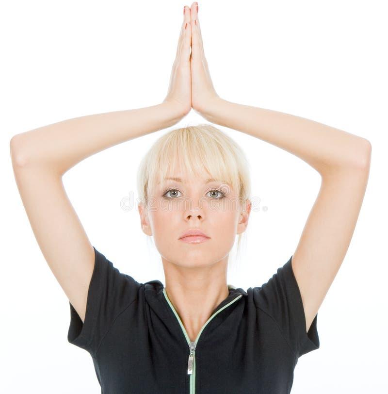 Yoga exercise stock images
