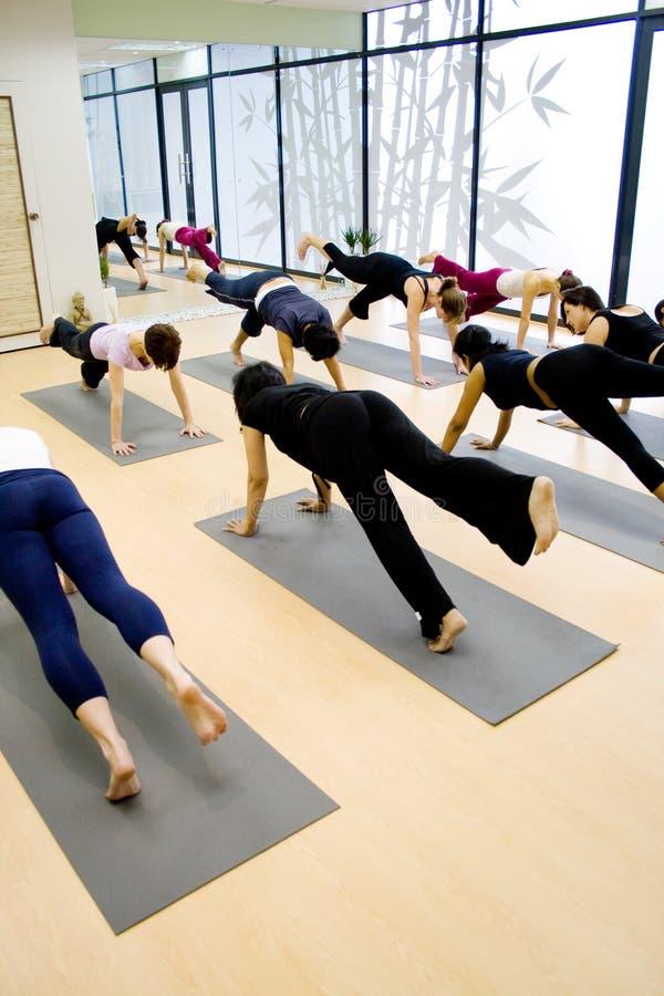 Yoga exercise royalty free stock photo