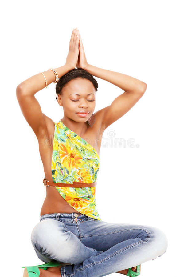 Yoga exercise girl