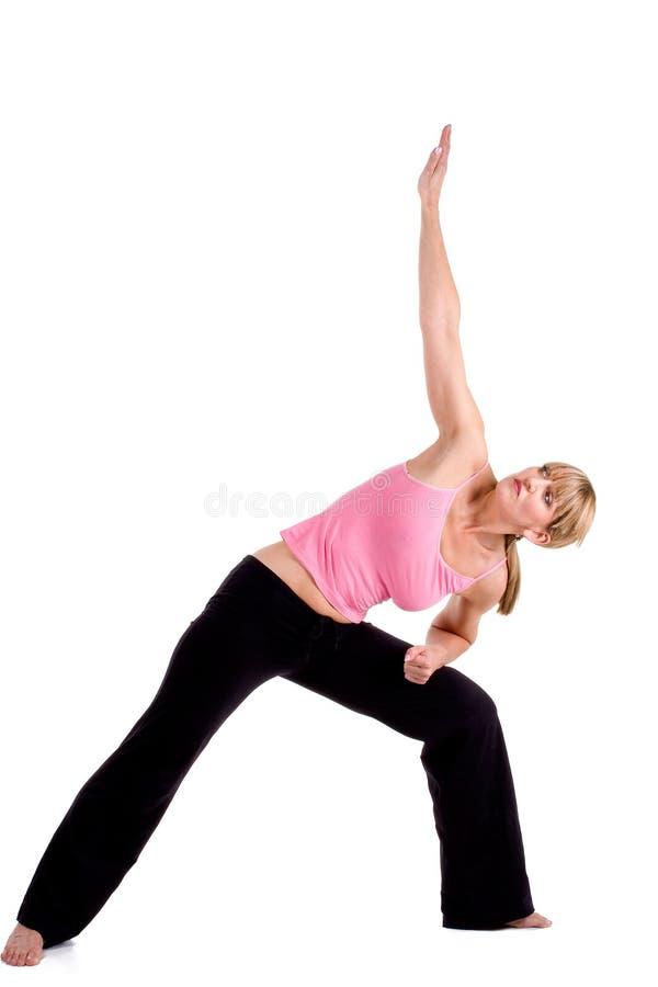 Yoga exercises stock photo. Image of standing, yoga ...