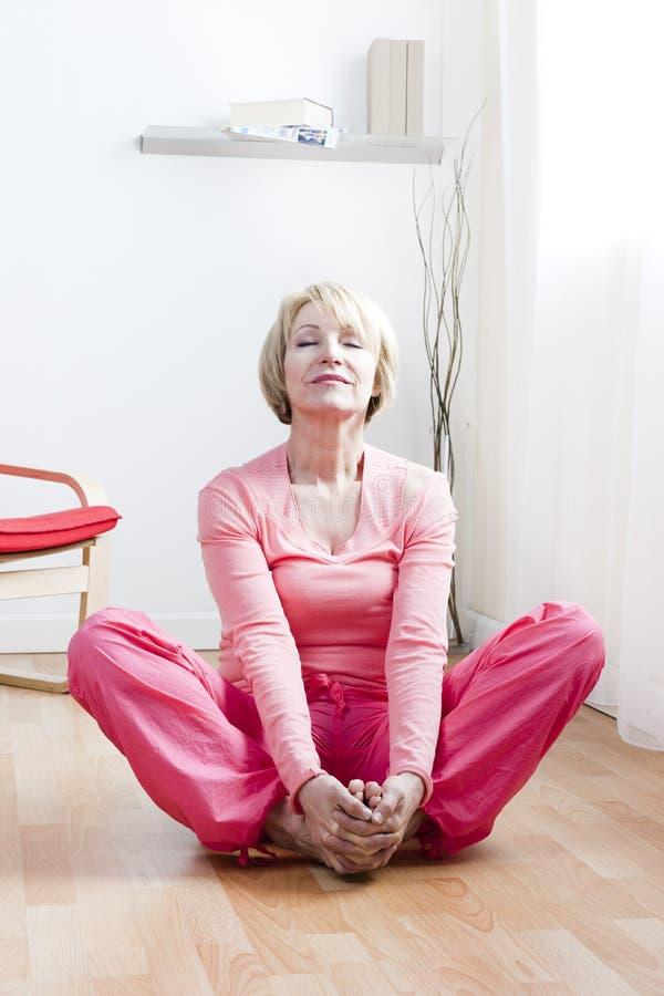 Free Yoga Exercises Royalty Free Stock Photo - 18205395