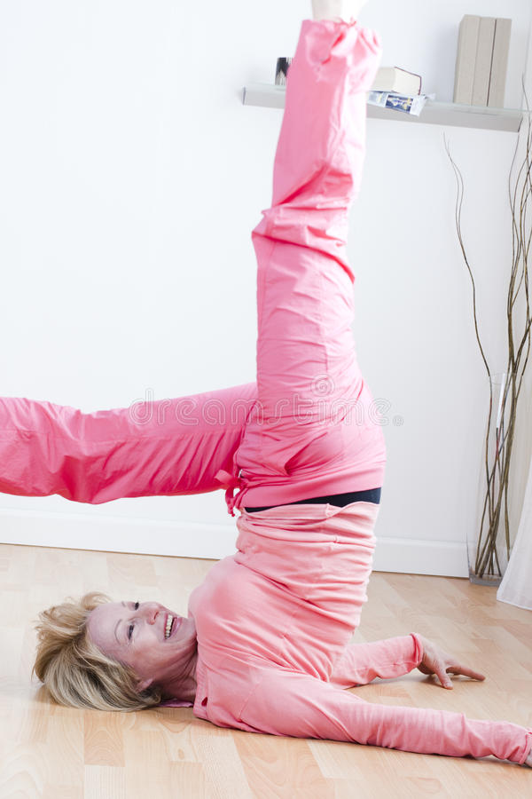 Free Yoga Exercises Royalty Free Stock Photography - 18205617