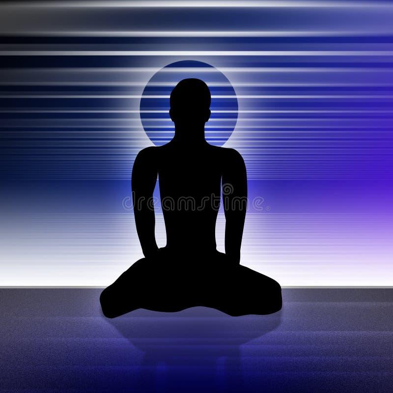yoga för 3 man stock illustrationer