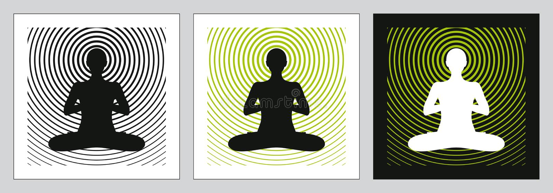 yoga för huvuddelmeningssoul royaltyfri illustrationer