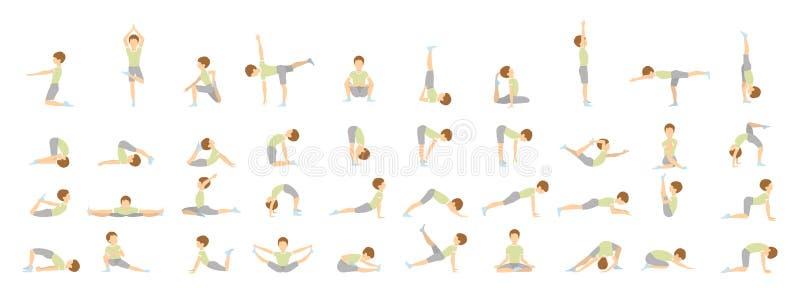 Yoga för ungar vektor illustrationer