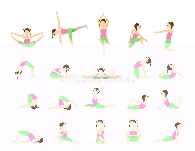 Yoga för ungar royaltyfri illustrationer