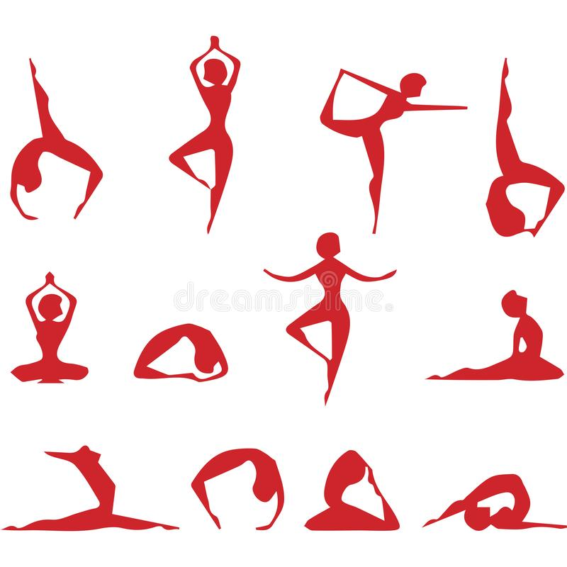 yoga f?r alla vektor illustrationer