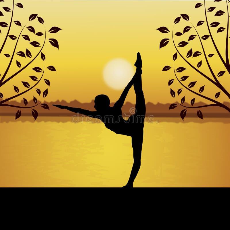 Yoga facente umana royalty illustrazione gratis