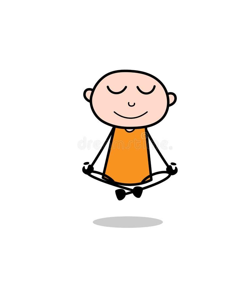Yoga faisant criminel de bande dessinée illustration libre de droits
