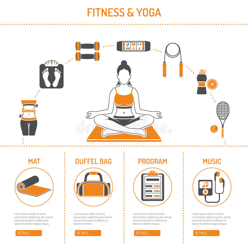 Yoga and Fitness Concept stock illustration