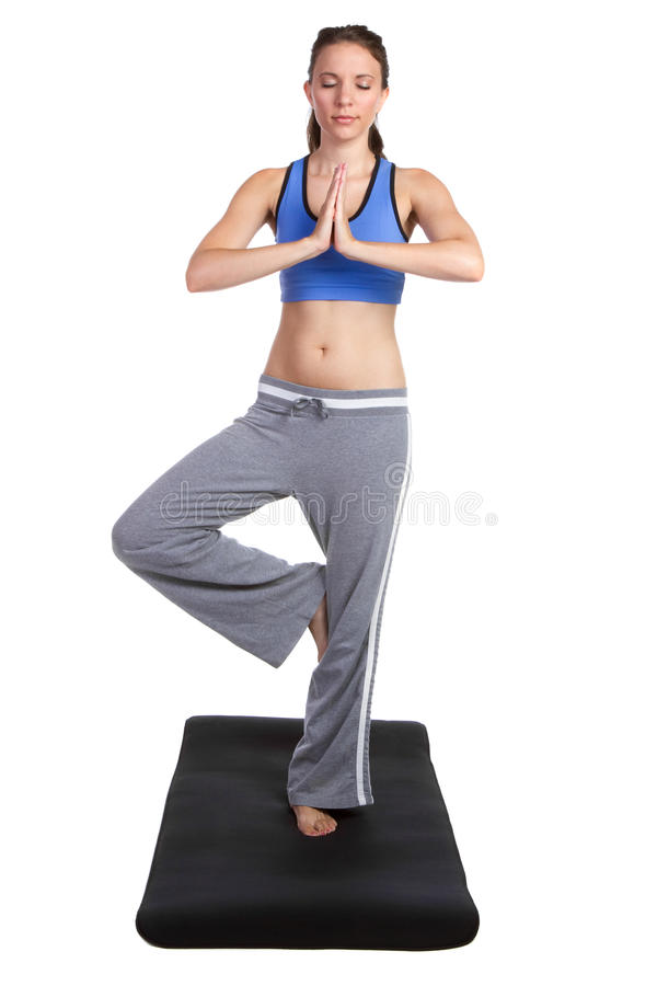 Download Yoga Fitness Woman stock image. Image of serenity, standing - 19003369