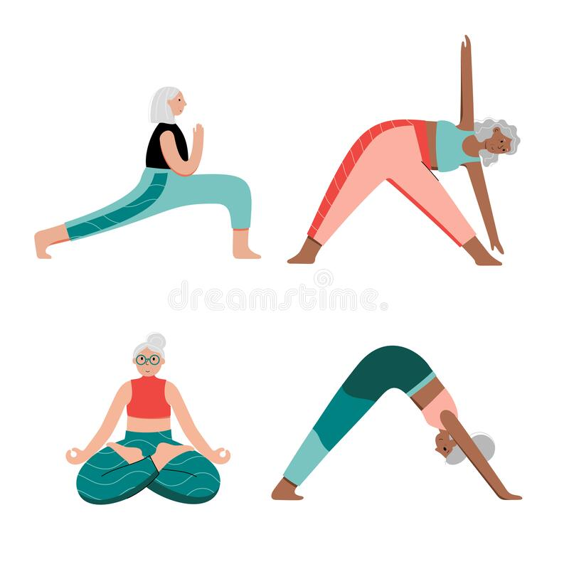 Free Yoga Flat Vector Illustration. Healthy Lifestyle Royalty Free Stock Image - 183223476