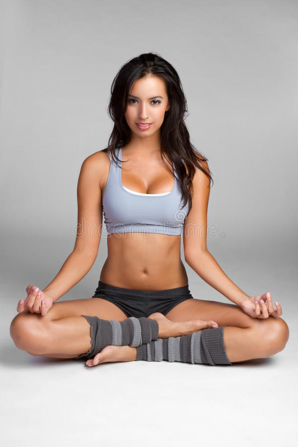 Yoga-Frau stockfotos