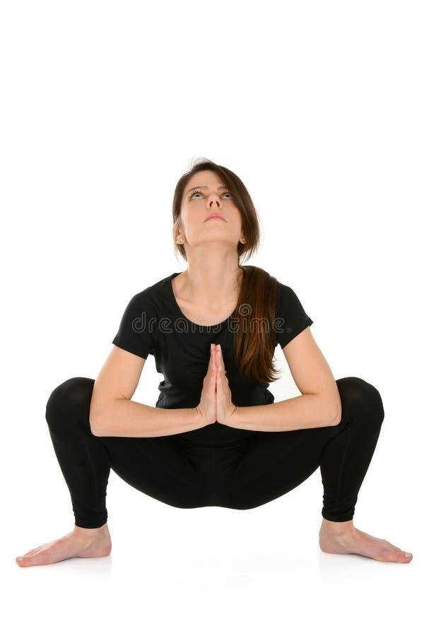 Yoga Garland Pose Malasana fotos de archivo libres de regalías