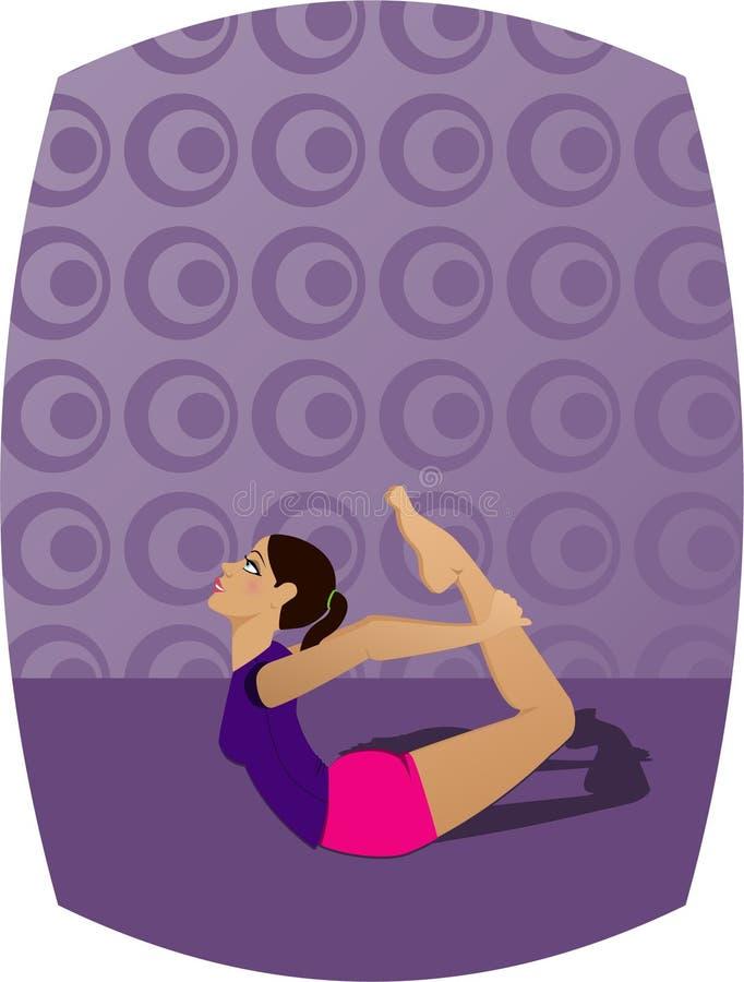 Download Yoga Girl stock illustration. Illustration of balance, body - 148958