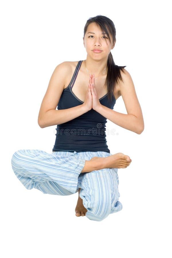 Yoga girl stock image