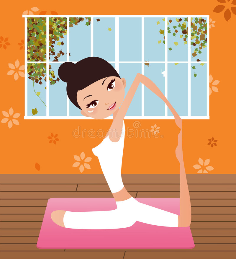 Download Yoga Girl Royalty Free Stock Images - Image: 9283789