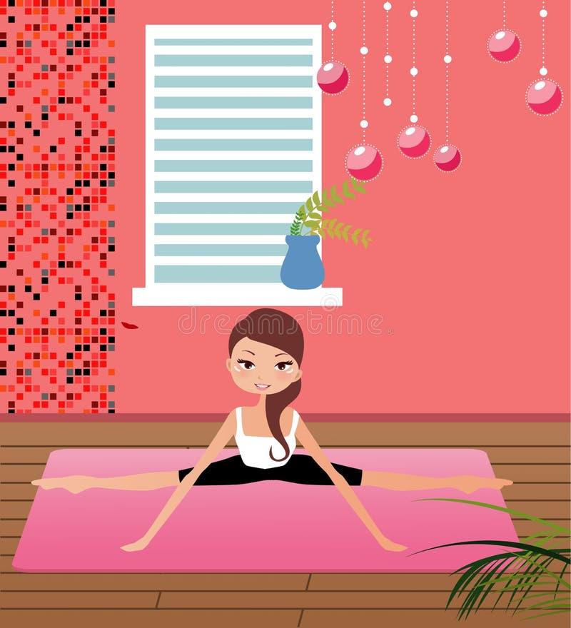 Yoga girl vector illustration