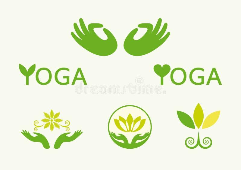 Yoga groen pictogram royalty-vrije illustratie