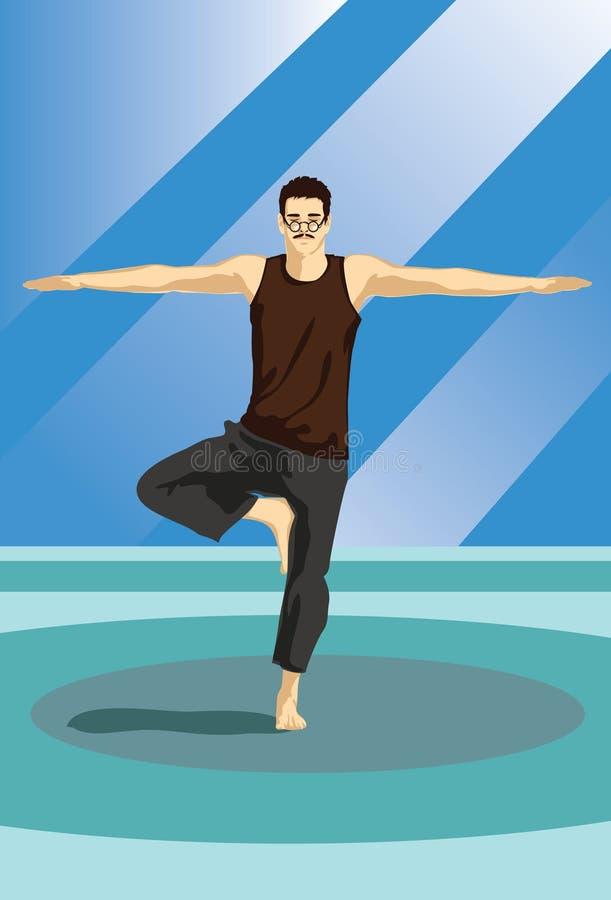 Download The Yoga Guru stock illustration. Illustration of workout - 14222682