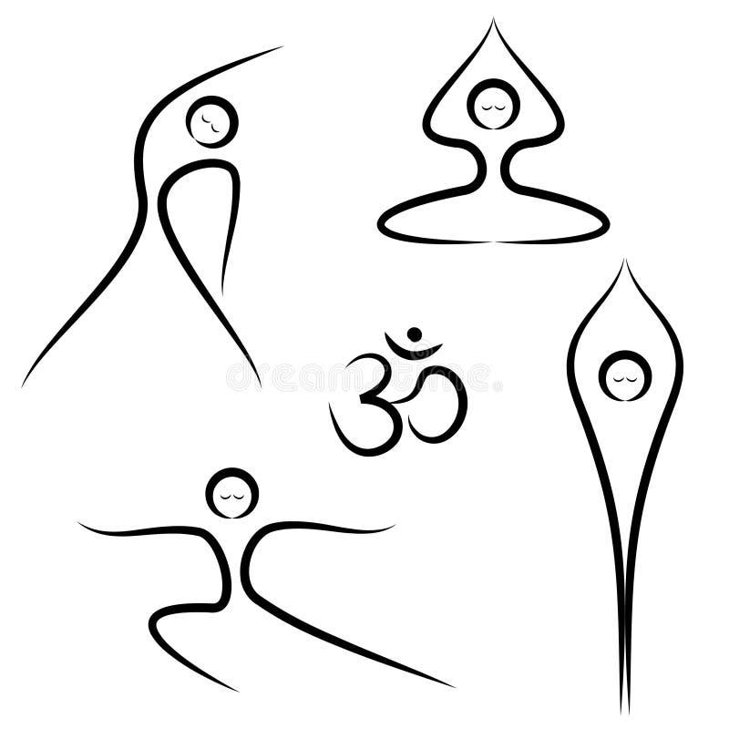 Yoga-Haltungen vektor abbildung