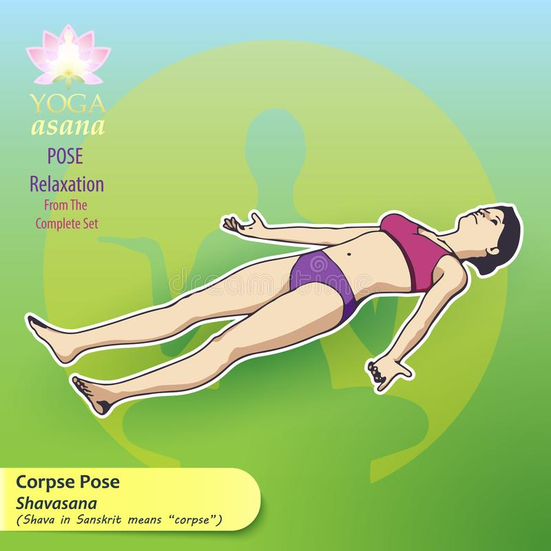 Yoga-Haltungs-Entspannung stock abbildung