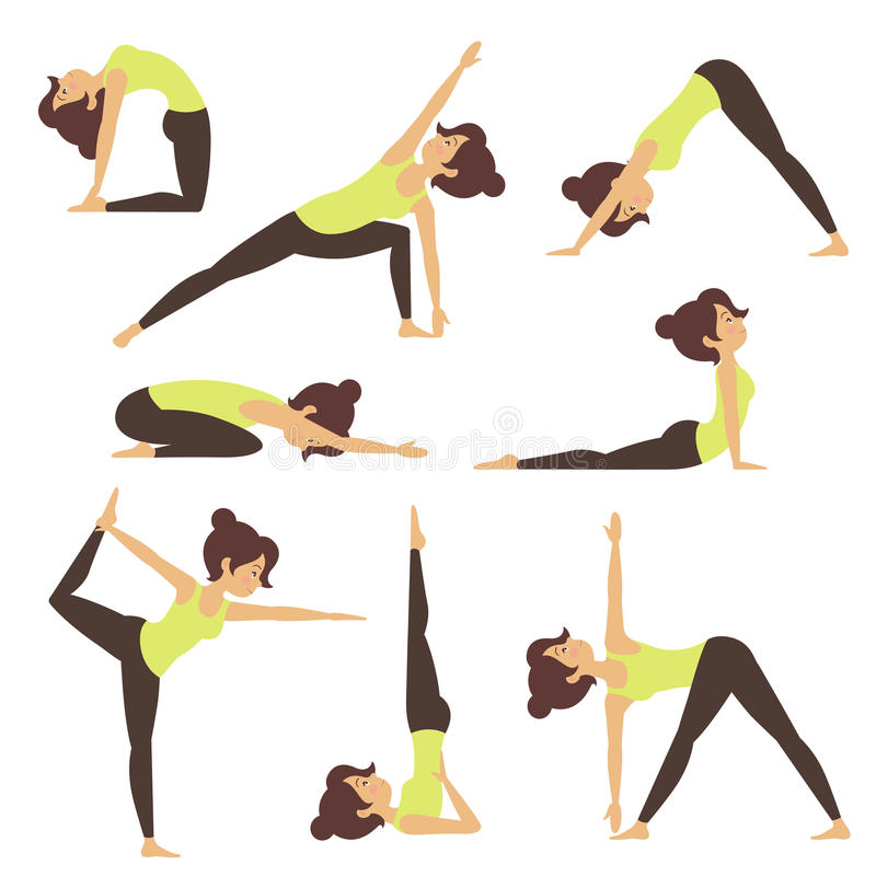 Yoga i natur royaltyfri illustrationer