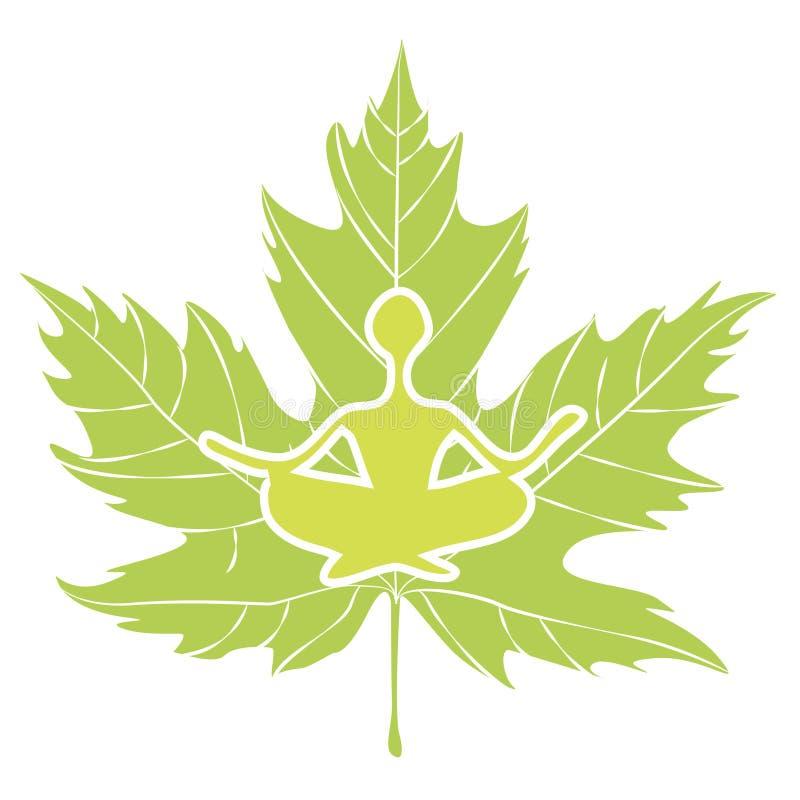 Yoga Icon Royalty Free Stock Photos