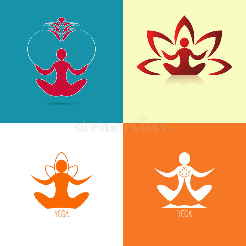 Yoga icon set vector illustration
