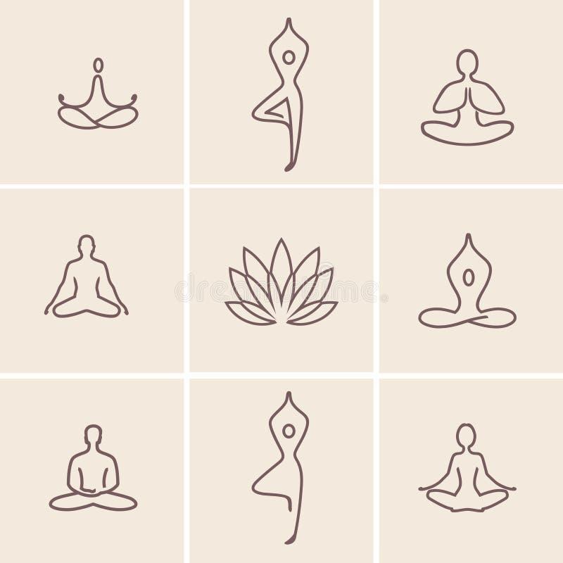 Yoga_Icons ilustração royalty free