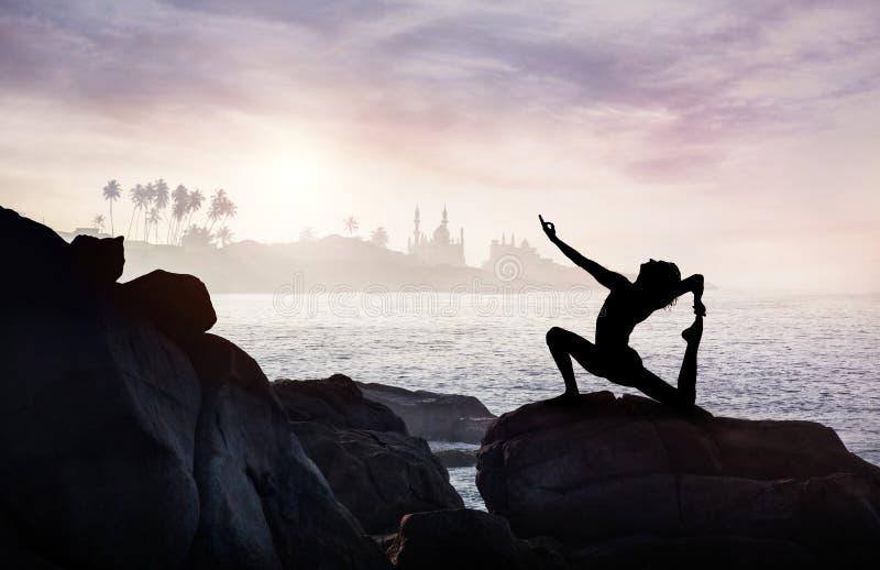 Yoga in India royalty-vrije stock afbeeldingen