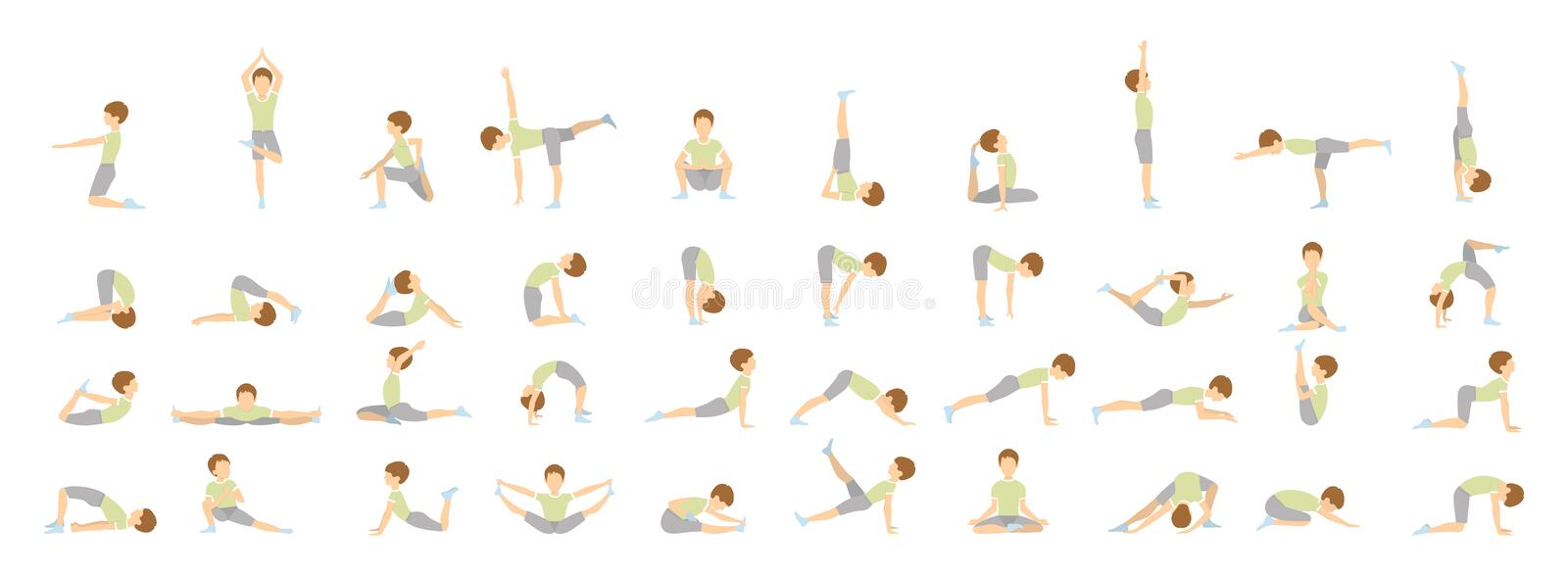 Yoga for kids. vector illustration