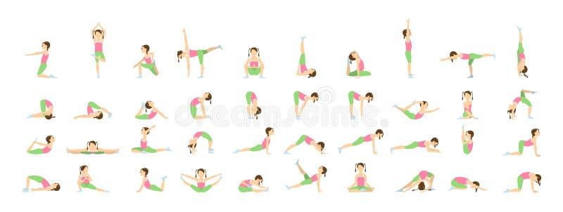 Yoga for kids. vector illustration