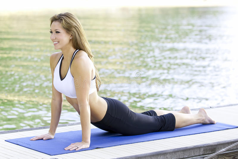 Download Yoga on the lake stock image. Image of practice, healthy - 21120099