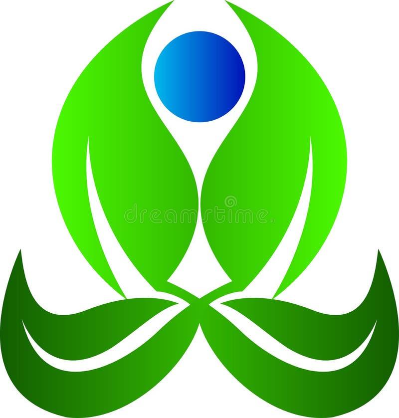 Yoga leaf stock illustration