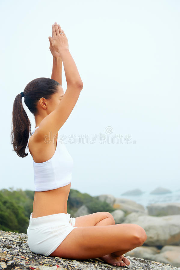 Yoga lifestyle woman stock photography