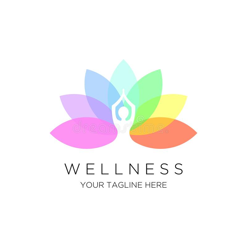 Yoga logo  emblem stock illustration