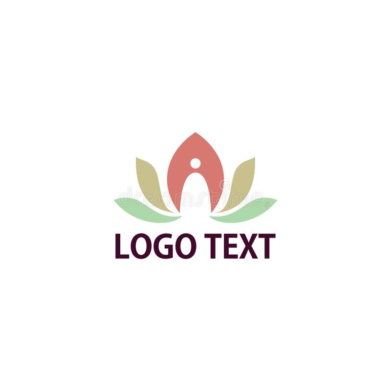 Yoga logo vector graphic illustrations royalty free stock photography