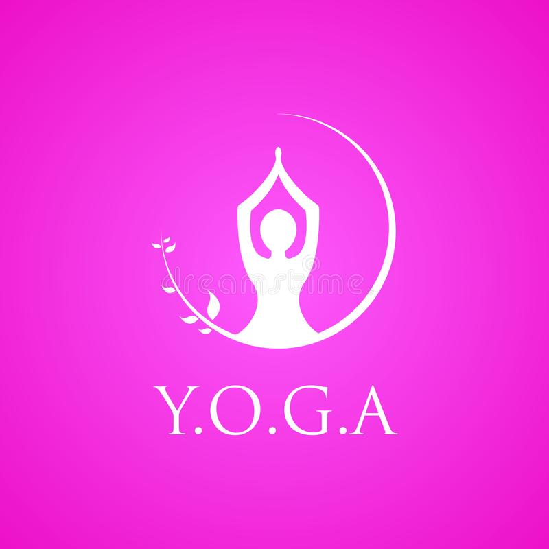 Yoga logo vector emblem royalty free illustration