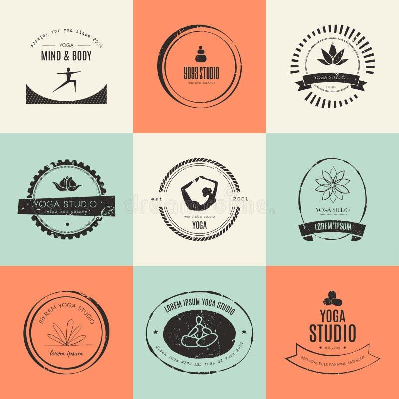 Modern Classroom Vector : Yoga logotypes collection stock vector image