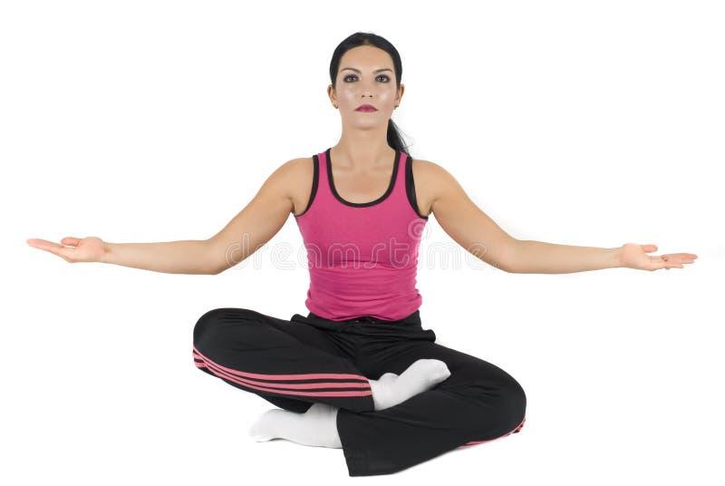Yoga-Lotos Stellung stockfoto