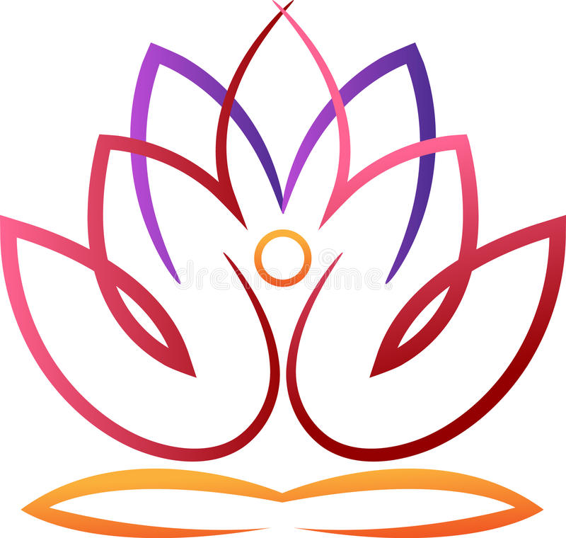 Yoga Lotus illustration stock