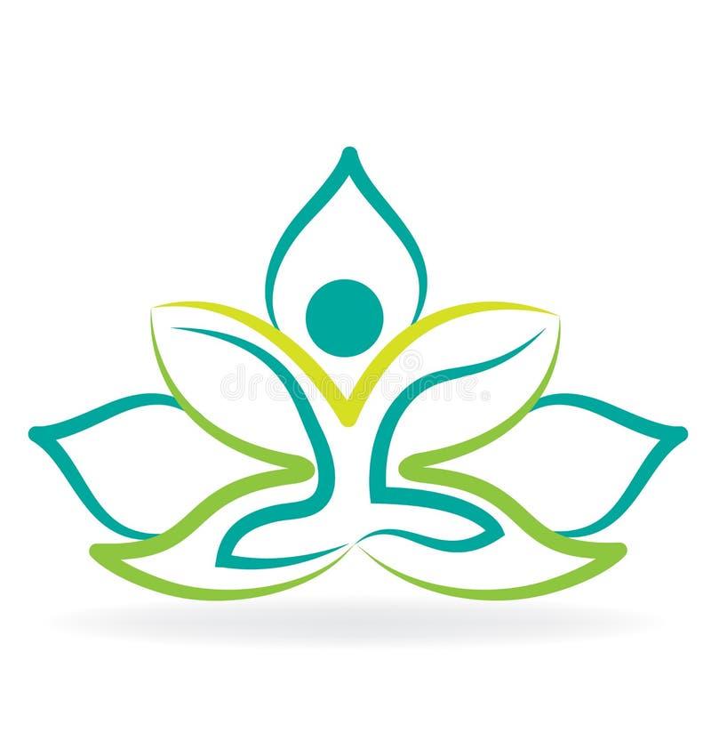 yoga lotus flower logo stock vector illustration of green 91037651 rh dreamstime com