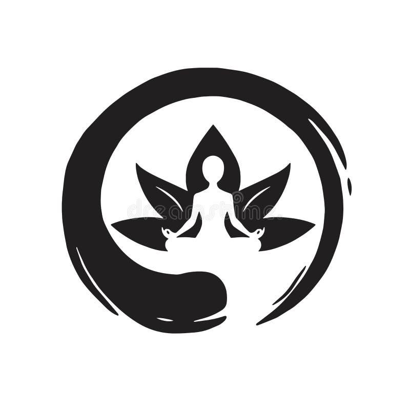 Free Yoga Lotus With Zen Circle Logo Template Vector Stock Photos - 92432733
