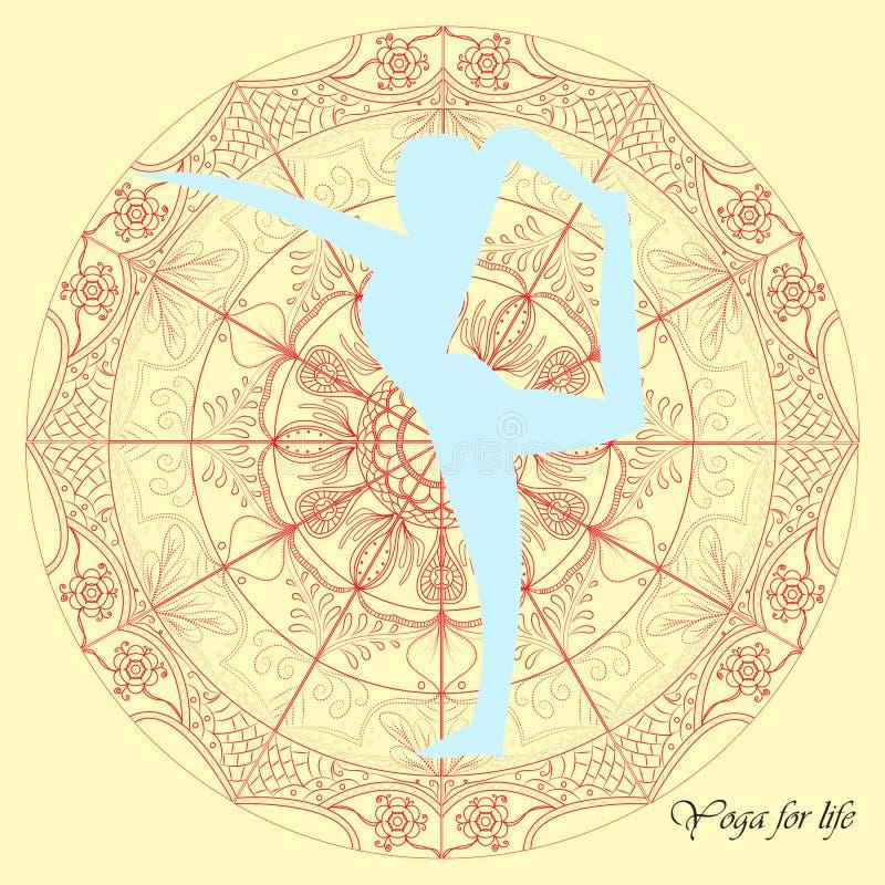 Yoga mandala illustration vector. royalty free stock photo