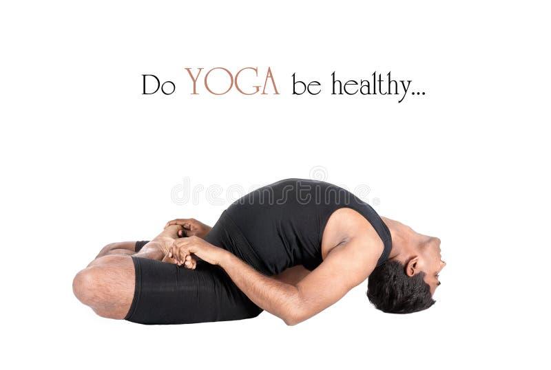 Yoga matsyasana Fischhaltung lizenzfreie stockbilder
