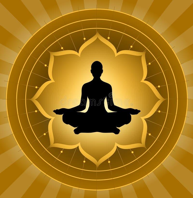 Yoga - meditación ilustración del vector