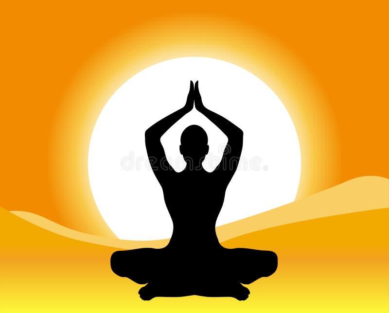 Yoga - Meditatie royalty-vrije illustratie