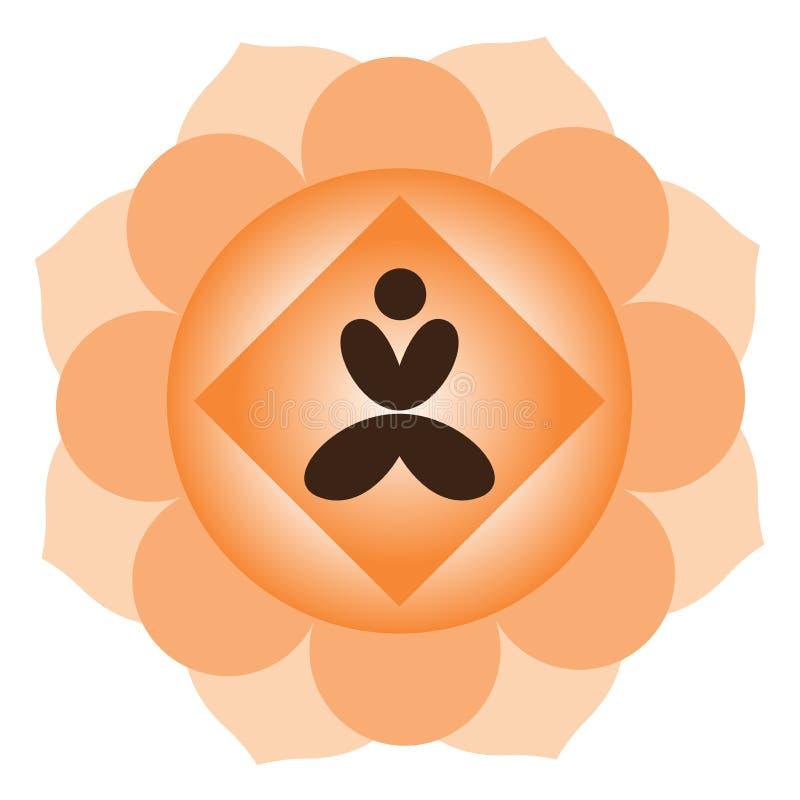Yoga meditation. Illustration of yoga meditation design isolated on white background stock illustration
